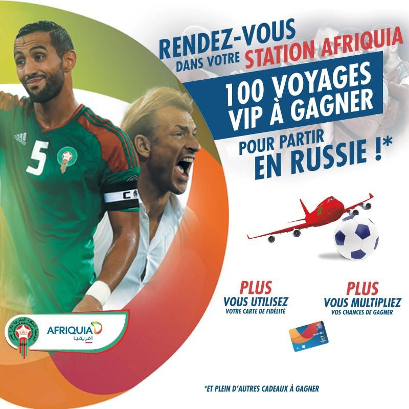 slider Le PLEIN D'ENERGIE avec AFRIQUIA pour tenter de gagner 100 PACKAGES VIP pour partir en Russie !